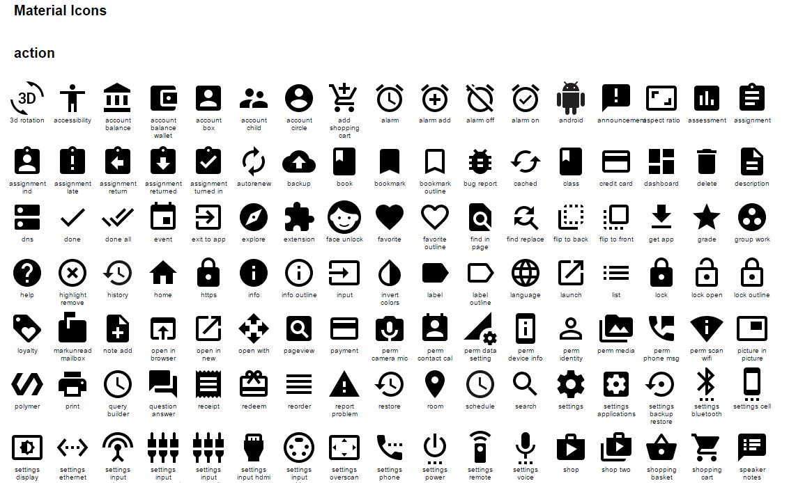 iconos de gran calidad para tu app Android