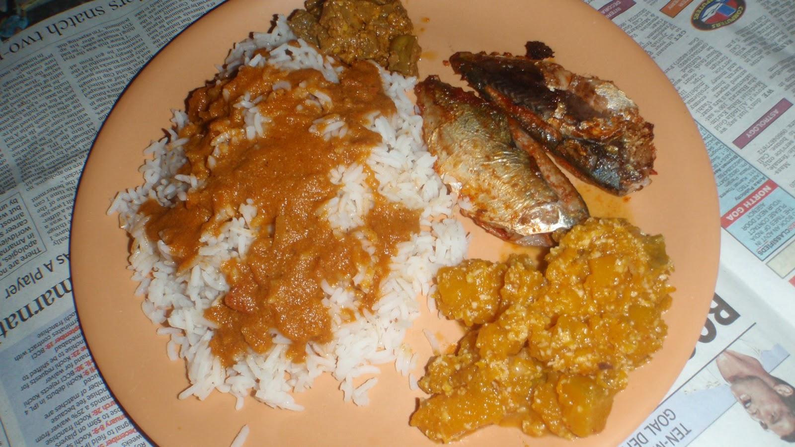 Goan Fish Curry Rice With Recheado Mackerel Masala Herb