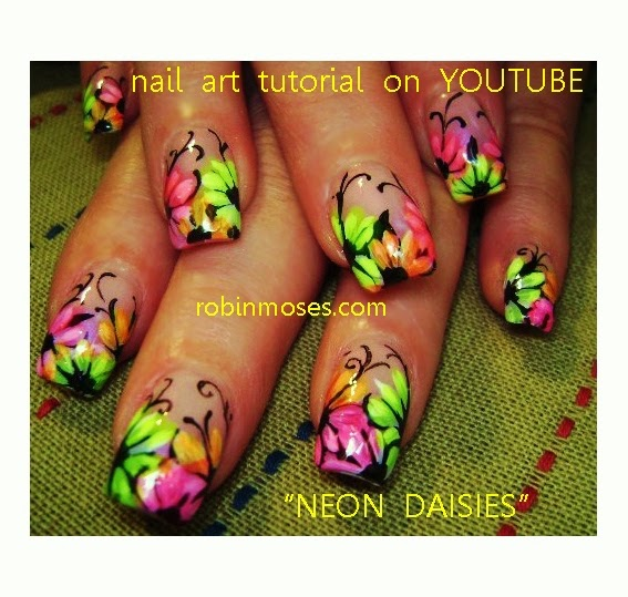 "Robin Moses Nail Art Designs: Robin Moses Nail Art: ""neon Nails"" ""robin Moses"" ""eyeball"