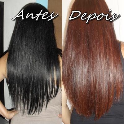 meus cabelos antes e depois de passar dekapcolor