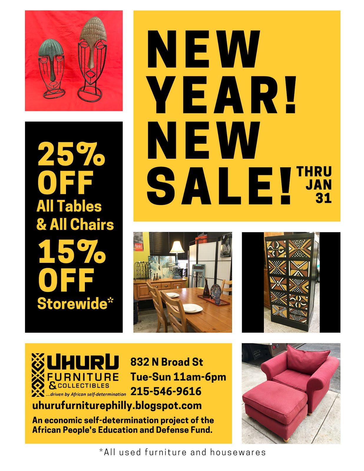 This month at Uhuru Furniture: