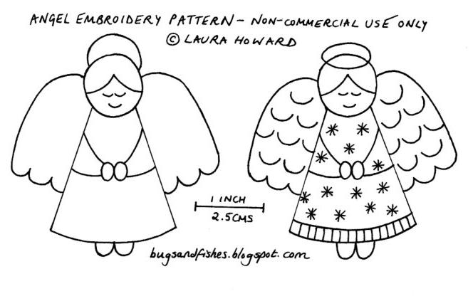 Bugs And Fishes By Lupin Angel Embroidery Pattern Mesmerizing Angel Pattern