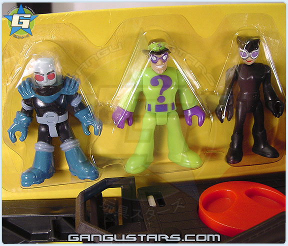 イマジネック Fisher-Price Imaginext DC Toys R Us Gotham City Collection Gotham City Center Mr Freeze Catwoman Riddler