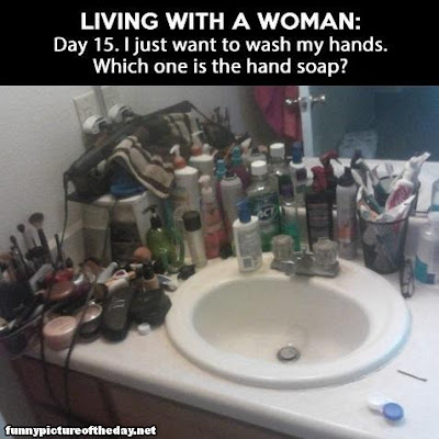 Funny Bathroom Living With A Woman Products Which One Is The Soap