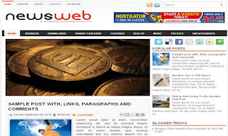 NewsWeb Blogger Template