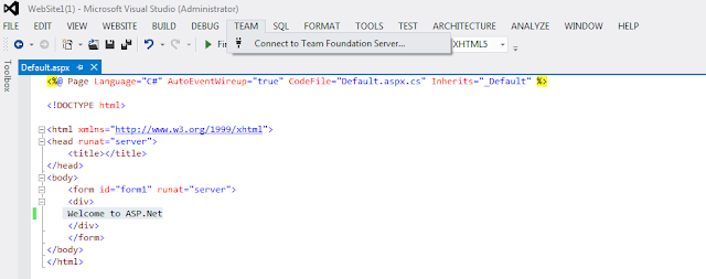 Add text to web form in visual studio 2012