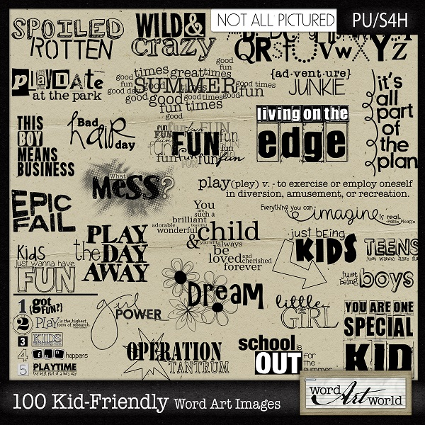Friendly word art