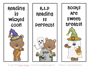 i created a little halloween bookmark freebie and thought you might enjoy it too i have included color and blackwhite copies for your convenience - Halloween Bookmarks To Color