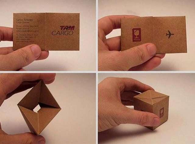 ilginç ve yaratıcı kartvizit tasarımlarına örnek, Kargo Şirketi