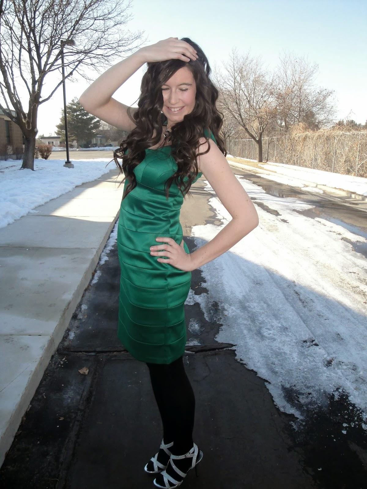 Love Iris Emerald Green Dress