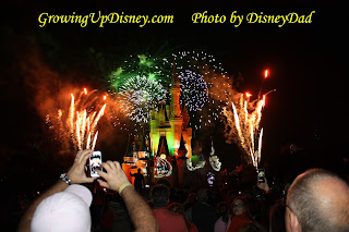 MNSSHP Happy Hallowishes Fireworks Magic Kingdom