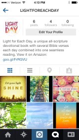 Click to go to Light for Each Day on Instagram