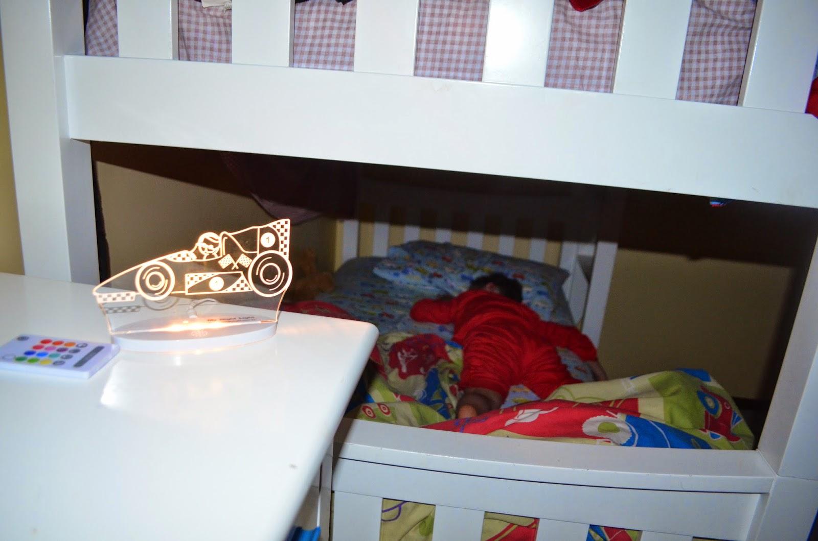 My Night Light sleeping child