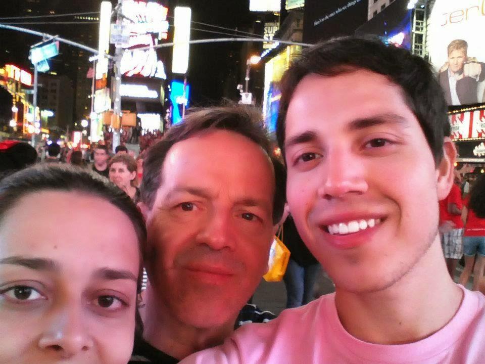 pai, irmão e eu