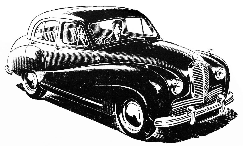 Free vintage clip art images: Austin Motor vintage ad