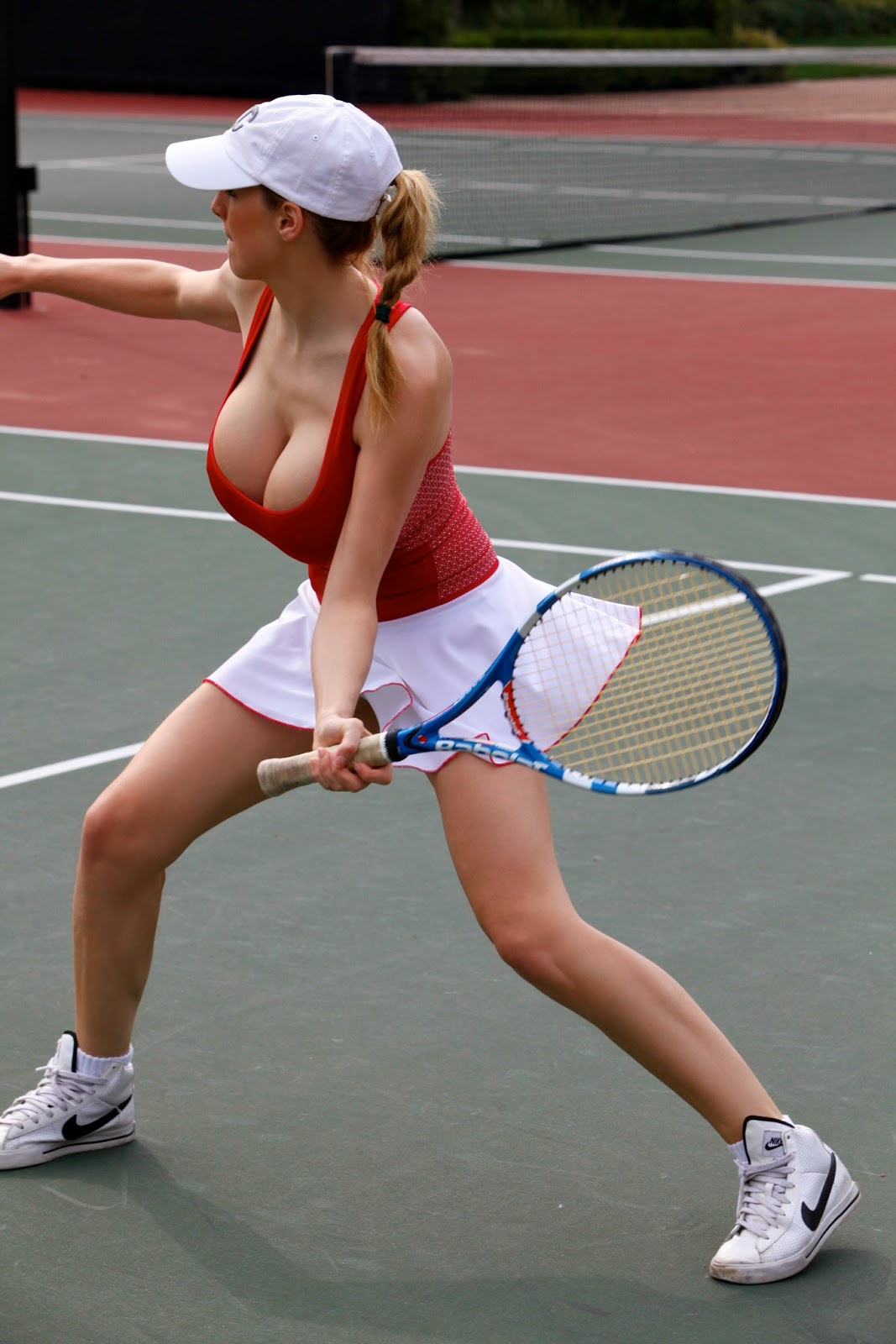 Jordan carver playing hot tennis big boobs cleavage show for Best online photo gallery