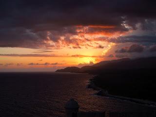 Santiago de Cuba sunset at El Morro