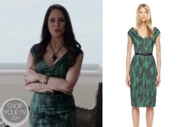 Revenge: Season 2 Episode 21 Victoria's Green Printed Dress