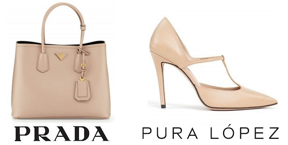 Crown Princess Mary's PRADA Saffiano Cuir Double Bag and PURA LOPEZ Gianella Shoes