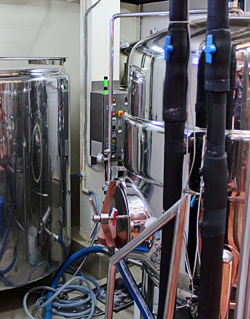 inside a microbrewery