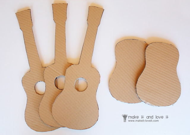 The 39 mister make it and love it 39 series cardboard guitars for Guitar cut out template