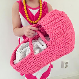 Gorgeous Crochet Doll's Carry Basket