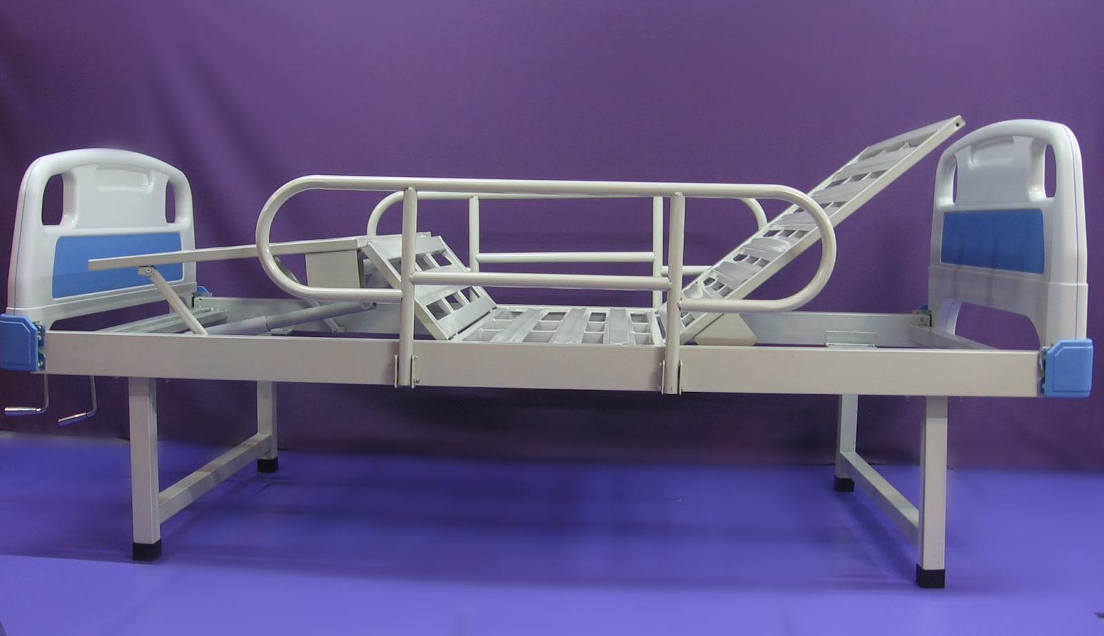 9. Economic Hospital bed manual two functions 二功能 手动 经济 老人院床 医院床