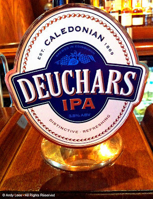 deuchars beer tap in bar