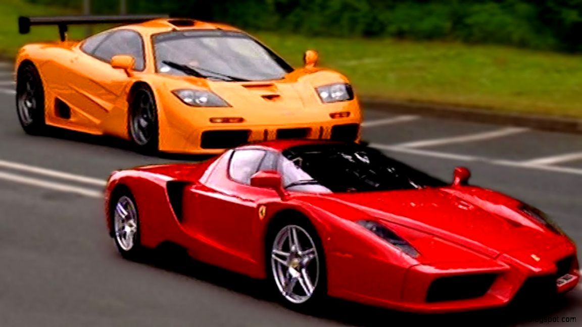 Ferrari Enzo vs McLaren F1   Fifth Gear   YouTube