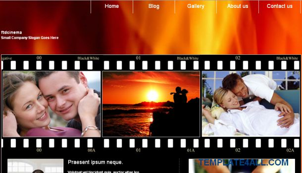 FtdCinema Movies Jquery CSS Template