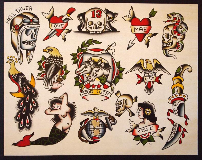 Speedboys bradley delay traditional flash tattoo for Traditional tattoo flash