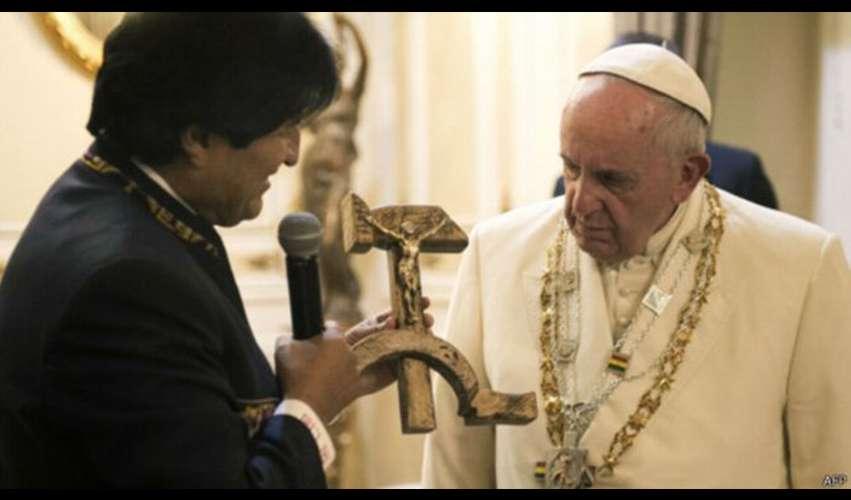 Hadiah Salib Palu Arit Untuk Paus Fransiskus Gemparkan Vatikan