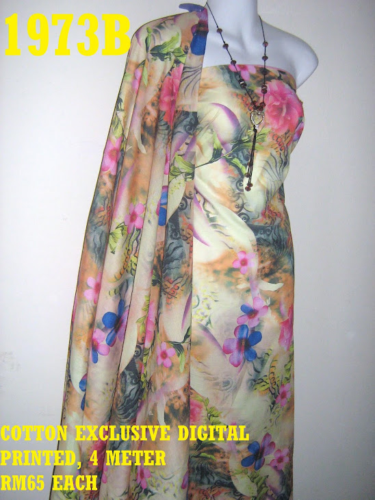 CDP 1973B: COTTON EXCLUSIVE DIGITAL PRINTED, 4 METER