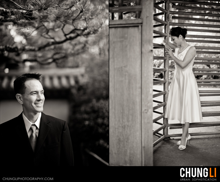 japanese garden engagement photographer