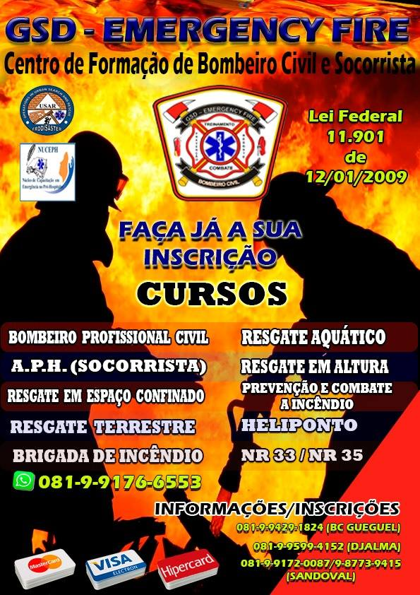 CURSO DE BOMBEIROS