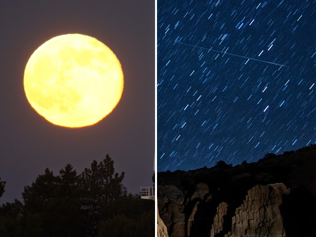 perseid meteor shower 2014 and super moon image HQ