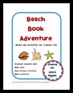 beach preschool theme, image, printable