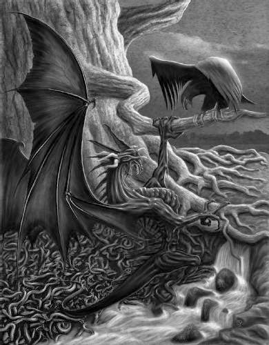 la eterna batalla entre el dragon y el halcon segun mitologia nordica