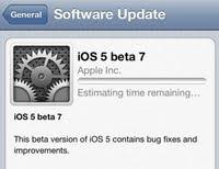iOS beta 7 Update