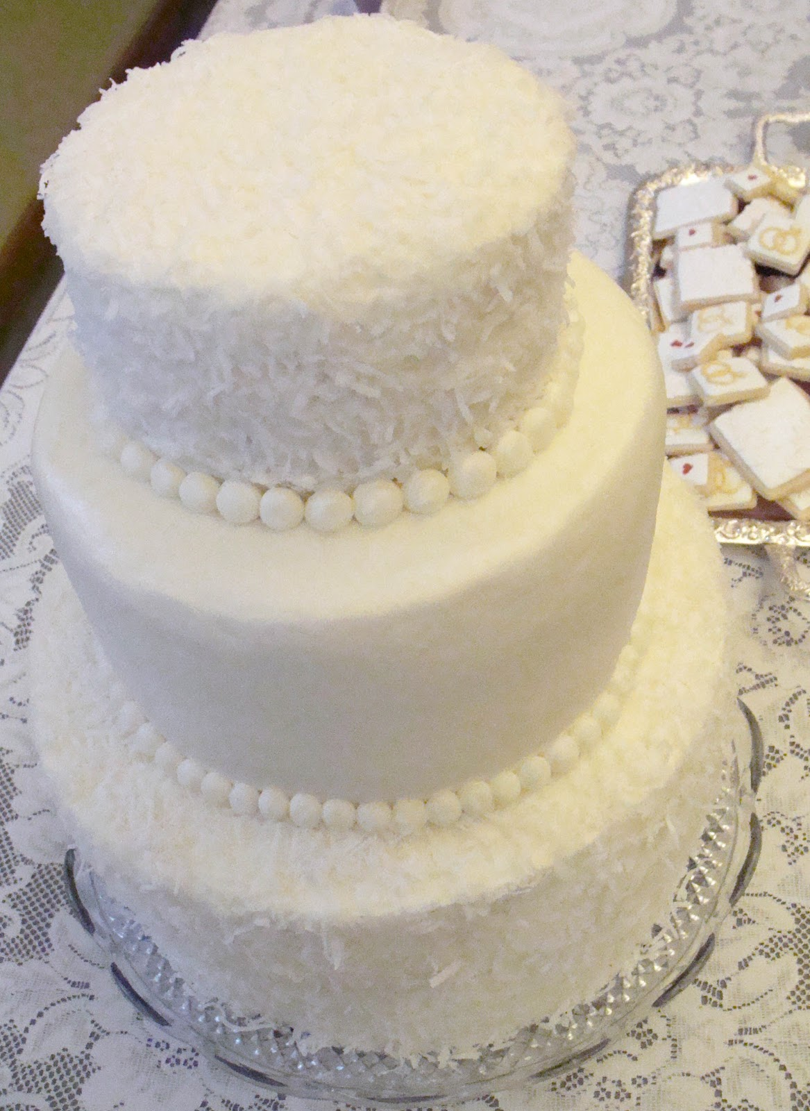 coconut buttercream frosting - and a wedding cake!