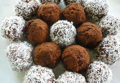 Zdrave kuglice od zobi, lješnjaka, kokosa i čokolade