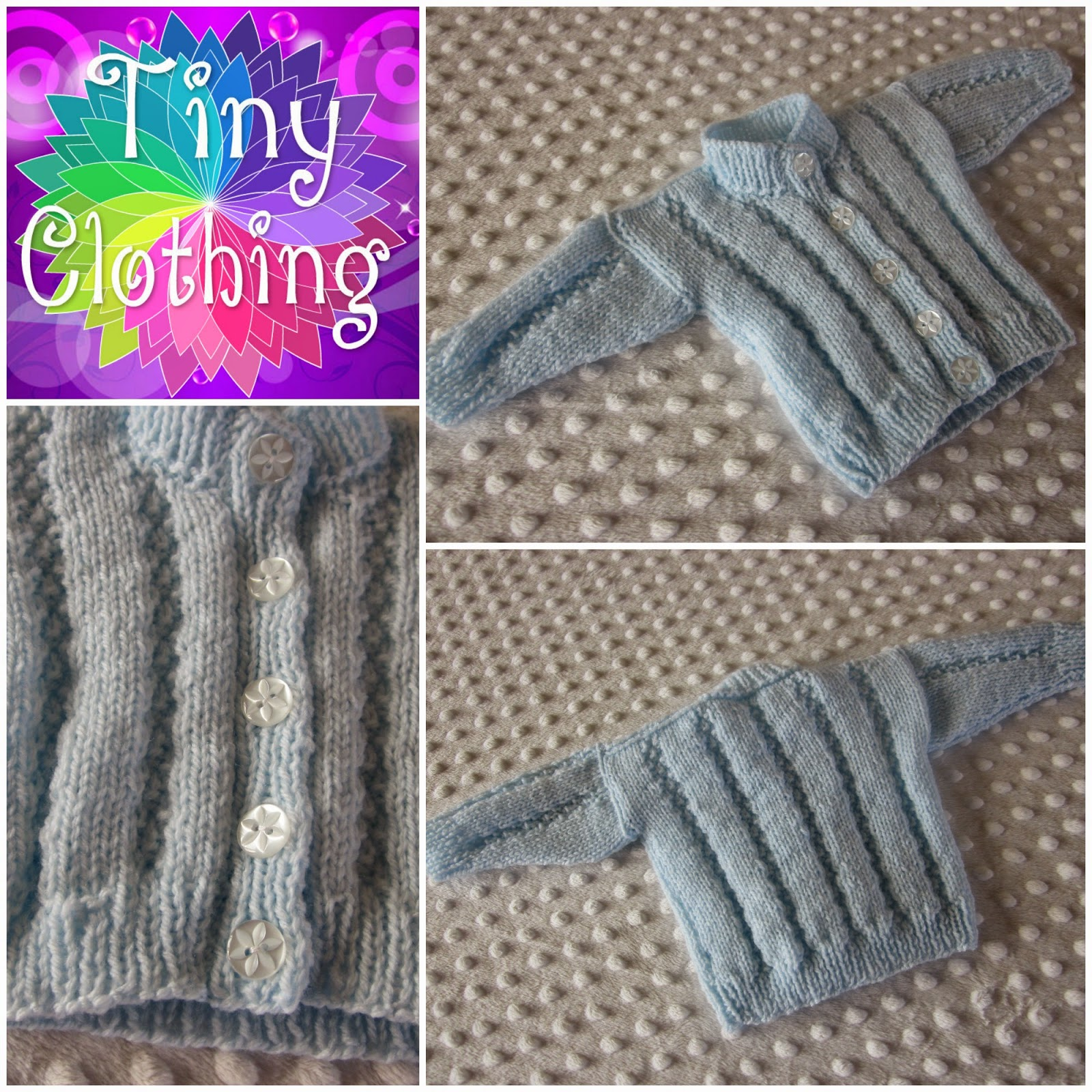Double Moss Stitch Knitting In The Round : Hand knitted dolls clothes round neck moss stitch cardigan