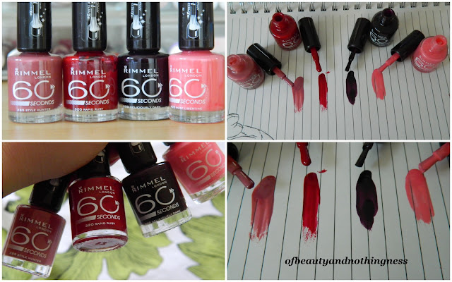 Rimmel 60 Second Nail Polish: Swatches & Review