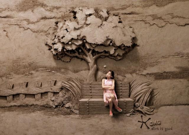 Escultura arena