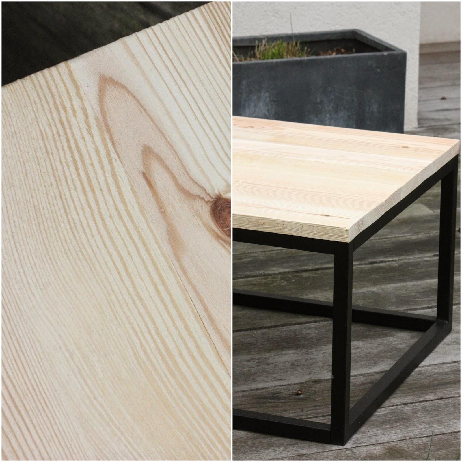 Un nouveau regard tuto peinture une table basse unique - Proteger une table en bois brut ...