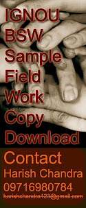IGNOU MSW and IGNOU BSW Help for Field Work Journal