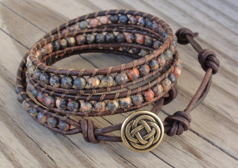 Leather Wrapped Cord : Millie s girls leather wrapped bracelets
