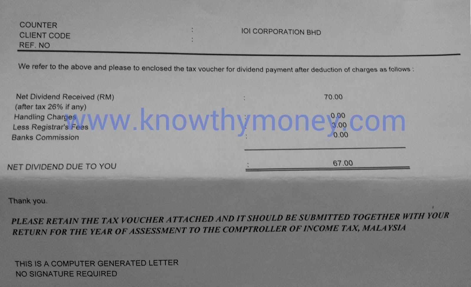 dividend paperwork