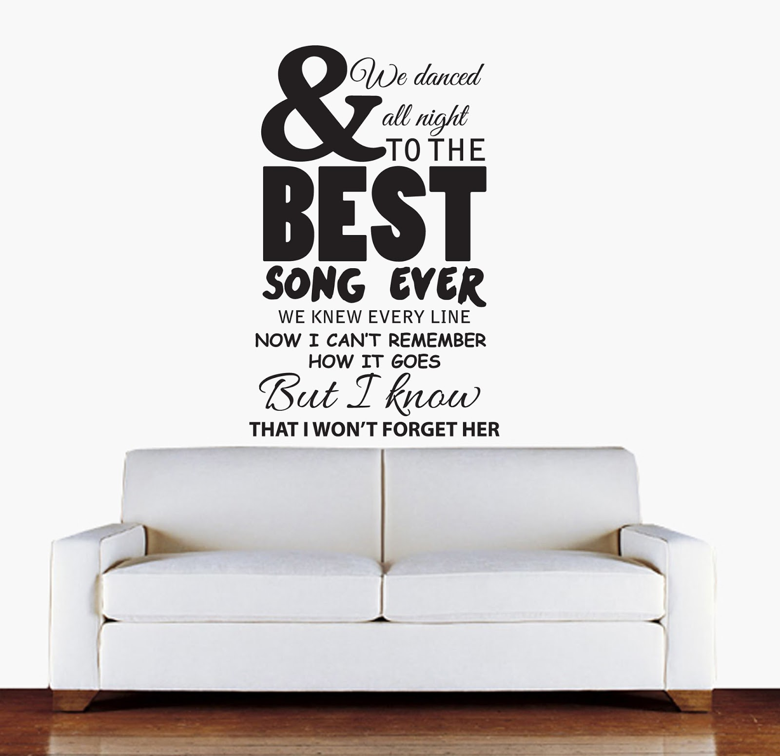 sophie jenner wall stickers 1d one direction lyrics snow patrol wall art lyrics wall stickers