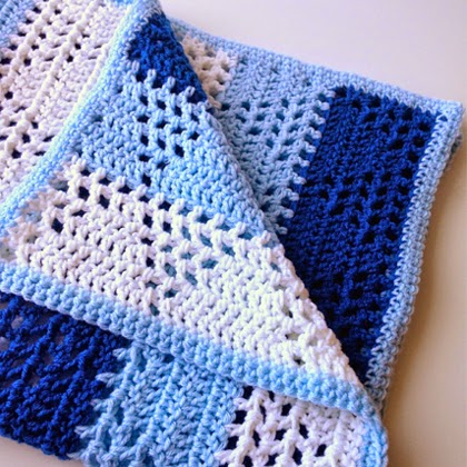 Triangles & Stripes Baby Blanket - Free Pattern